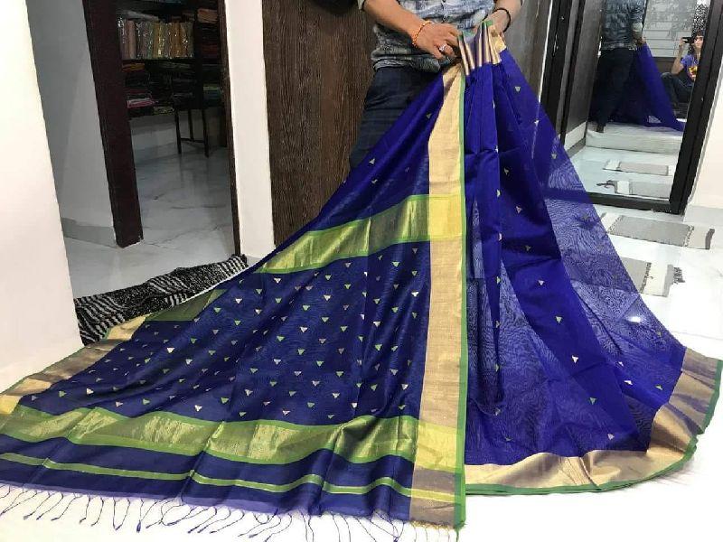 Maheshwari Booti Silk Saree