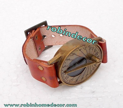 Antique Steampunk Wrist Brass Compass