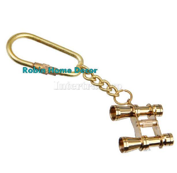 Brass Binocular Keychain