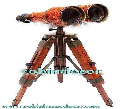 Brass Binocular with Tripod Stand