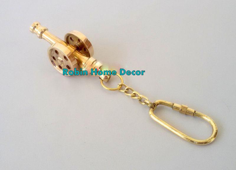 Brass Cannon Keychain
