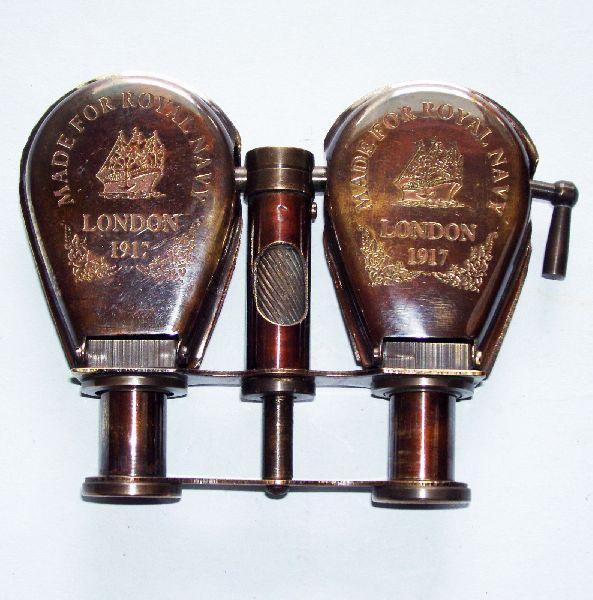 Brass Folding Binocular