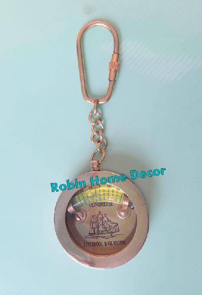 Brass Inclinometer Keychain