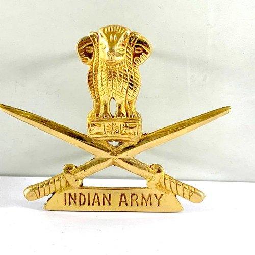 Brass Indian Army Logo