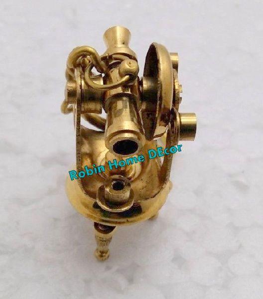 Brass Theodolite Keychain