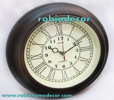 Brass & Wooden Antique Wall Clock
