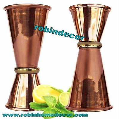 Copper Double Jigger Cocktail Shot Glasses