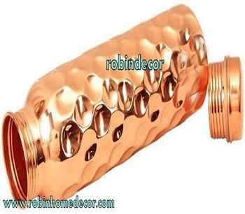 Copper Hammered Water Bottle