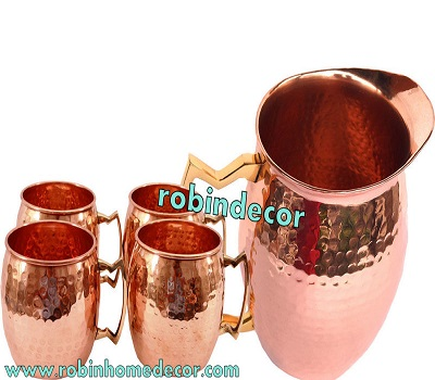 Copper Jug & Mule Mug Set