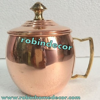 Copper Moscow Mule Mug with Lid