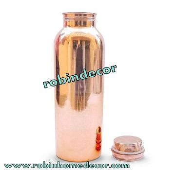 Copper Plain Water Bottle