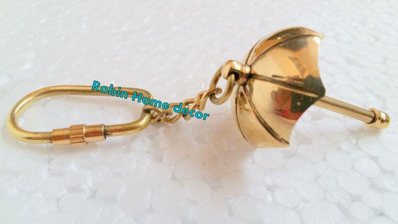 Umbrella Brass Keychain