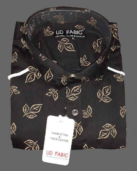 Mens Black Cotton Shirt