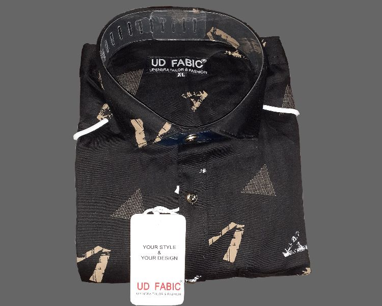 Mens Black Designer Shirt