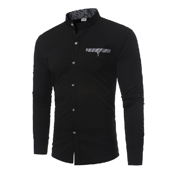 Mens Black Fancy Shirt