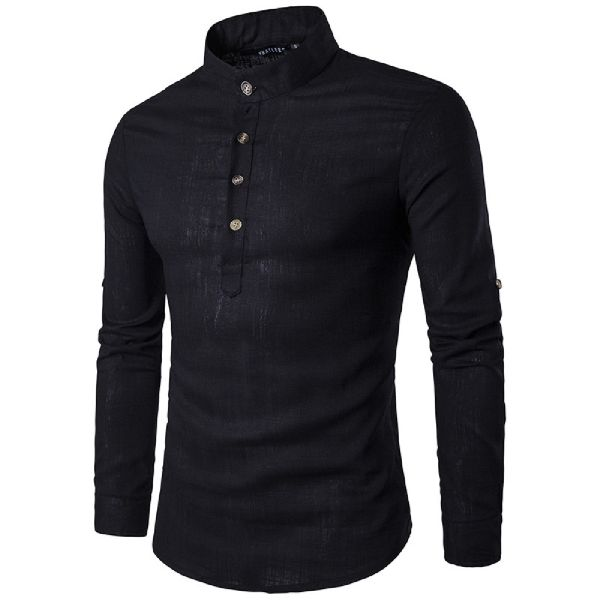 Mens Black Short Kurta