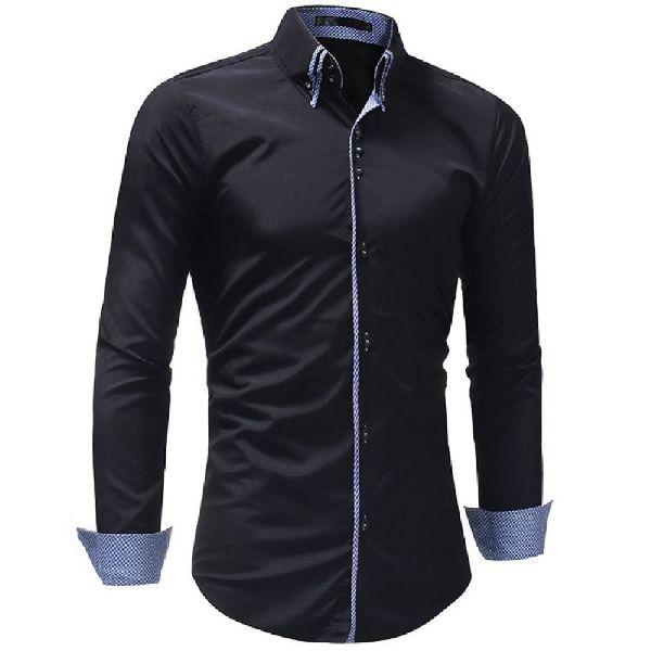 Mens Black Slim Fit Shirt