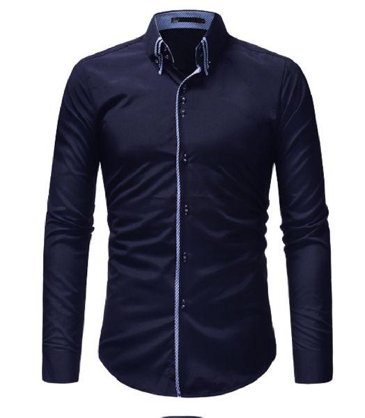 Mens Blue Slim Fit Shirt