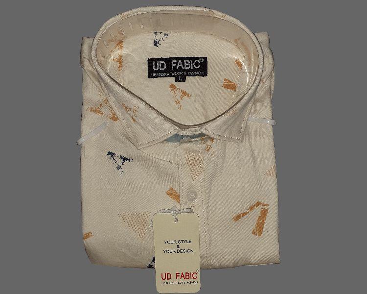 Mens Cream Formal Shirt