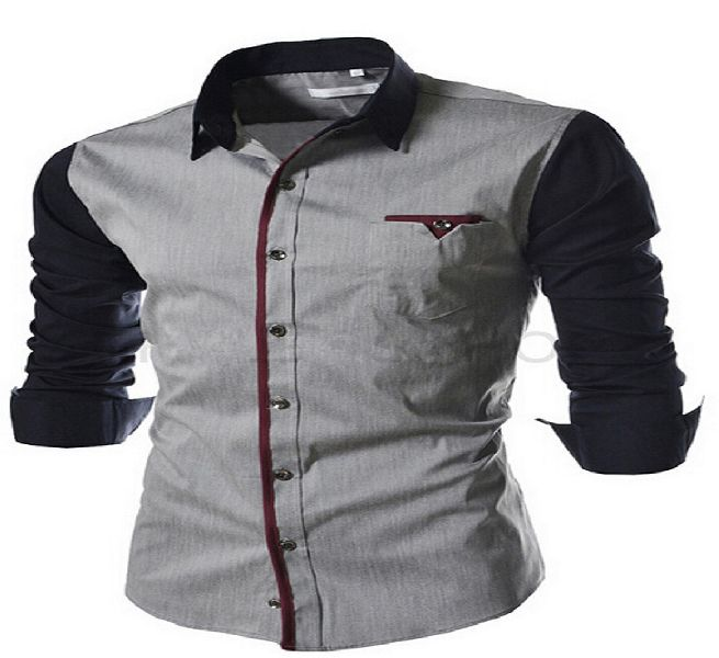 Mens Grey Casual Shirt