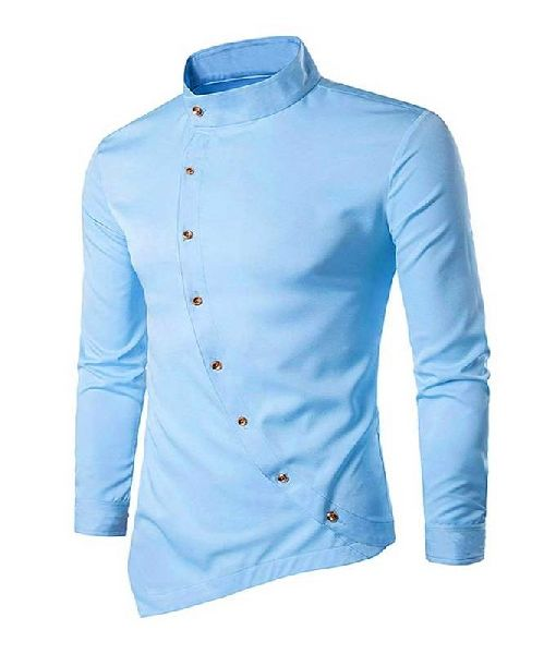 Mens Sky Blue Casual Shirt