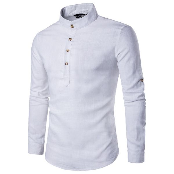 Mens White Short Kurta