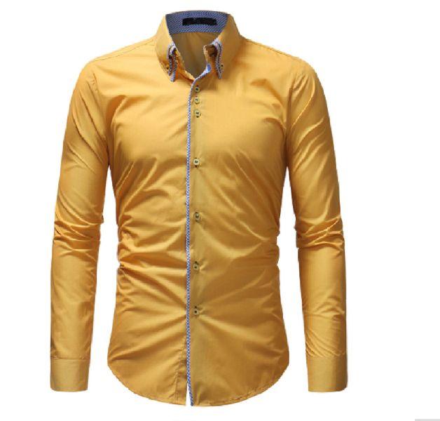 Mens Yellow Casual Shirt