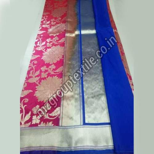 Pink Katan Silk Saree