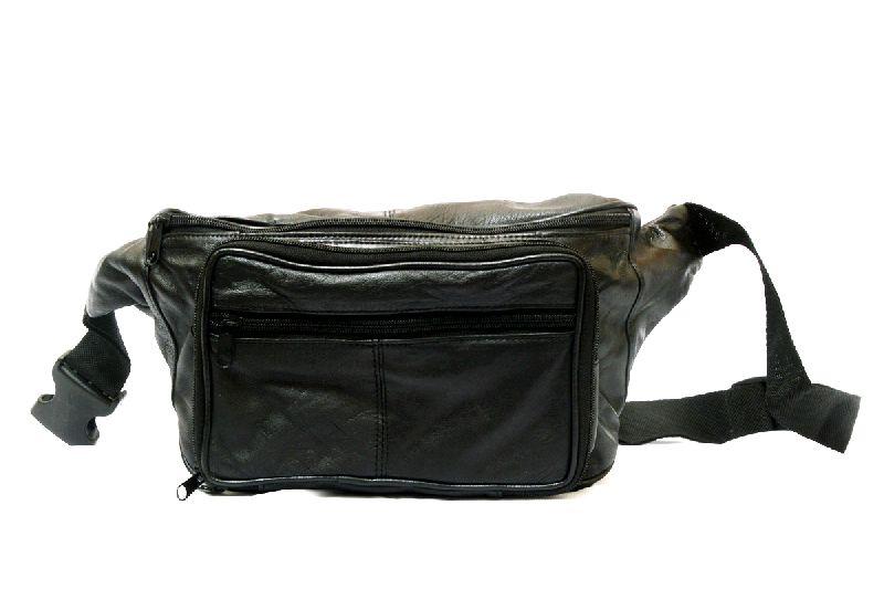 Genuine Sheep Leather Five Zipper Waist Bag (T&T-L2)