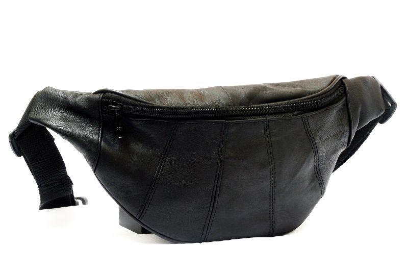 Genuine Sheep Leather One Zipper Waist Bag (T&T-L5)