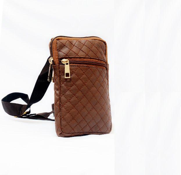 Genuine Sheep Leather Three Zipper Mobile Bag (T&T-L7)