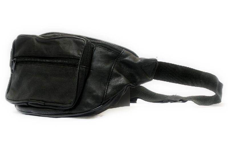 Genuine Sheep Leather Three Zipper Waist Bag (T&T-L3)