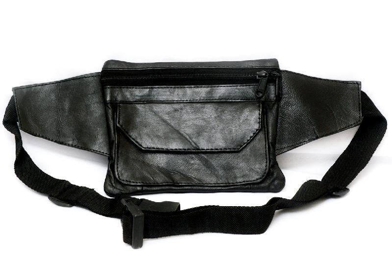 Genuine Sheep Leather Two Zipper Waist Bag (T&T-L4)