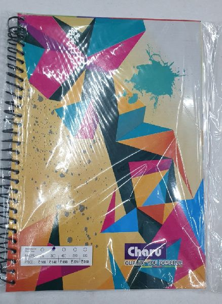 A4 Spiral Notebook 400 Pages Charu