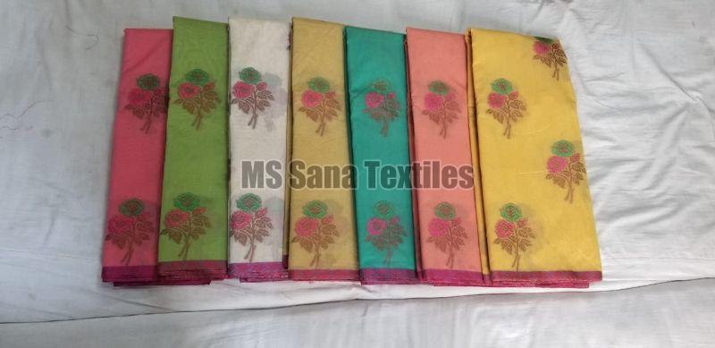 Flower Design Cotton Sarees