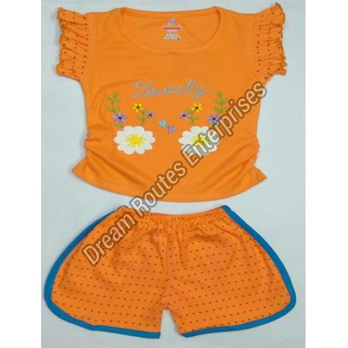 Girls Top And Shorts Set