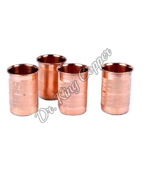 4 Piece Copper Glass Set