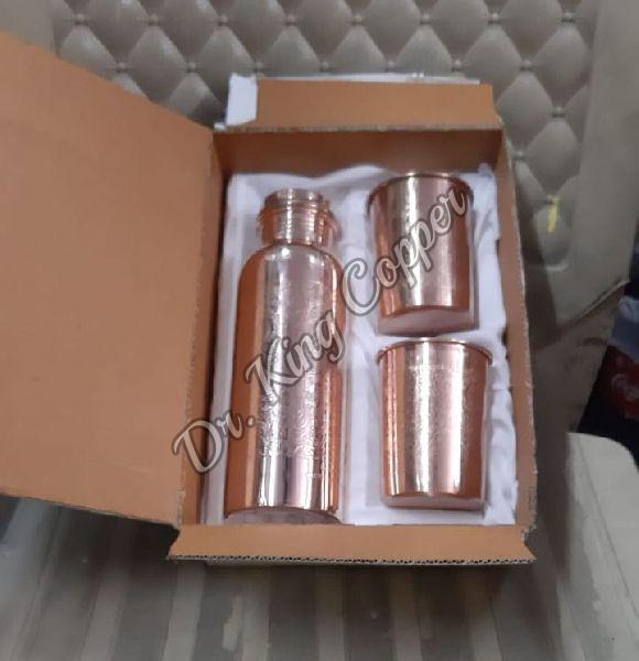 Copper Bottle with 2 Glass Set