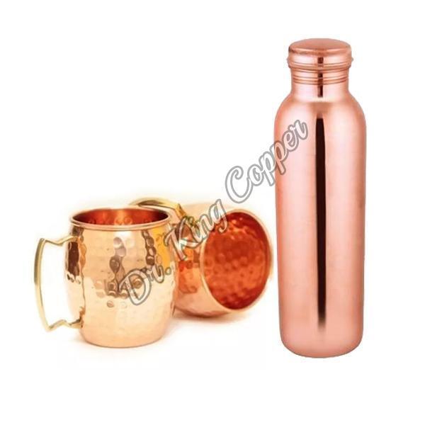 Copper Bottle with Mule Mug Set