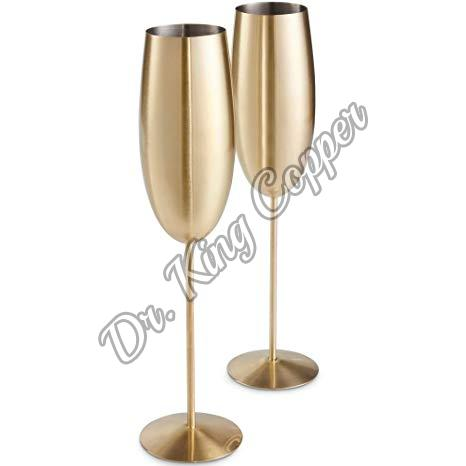 Copper Champagne Glass Set