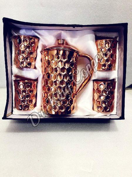 Copper Jug & Glass Gift Set