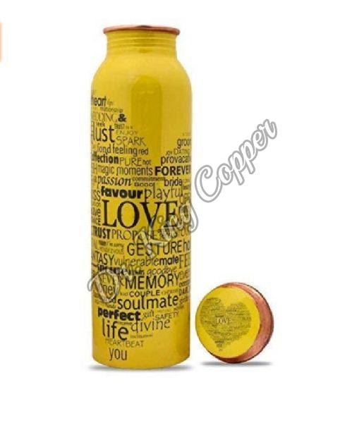 Love Printed Copper Bottle