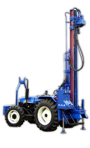 DTH Combination Rig Mounted On Tractor (Only Mounting)
