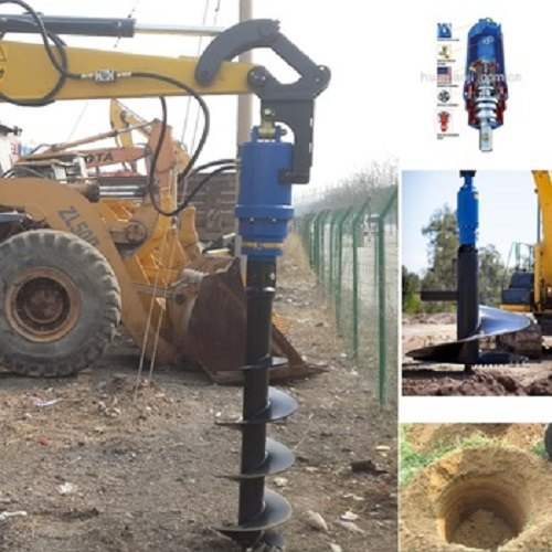 Hydraulic Powered Ground Earth Auger Drilling Rigs
