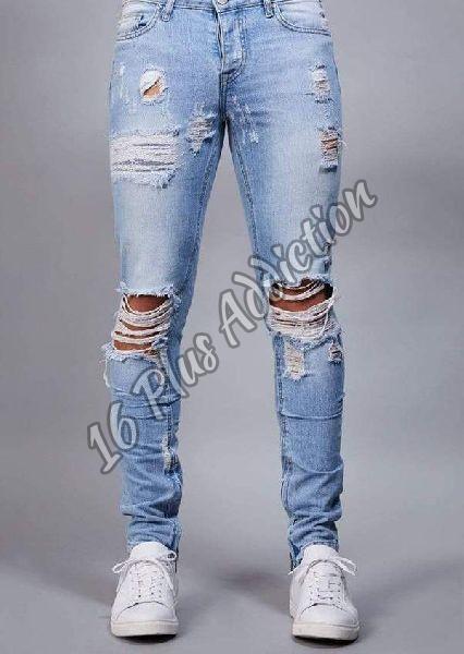Mens Damage Jeans