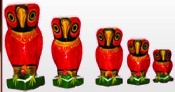 Hand Painted Owl Set