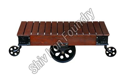 Wooden Cart Coffee Table