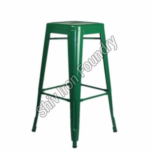 Green Iron Bar Stool
