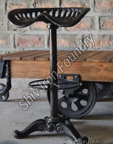 Iron Tractor Bar Stool