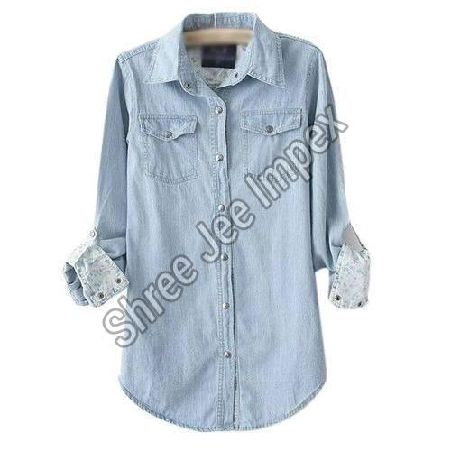 Ladies Denim Shirt